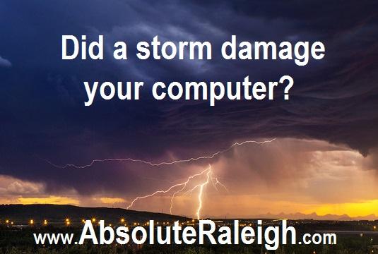 storm damage cary