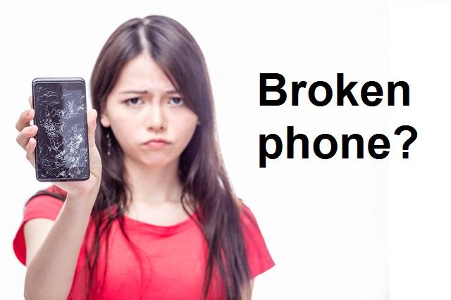 broken cell phone repair image