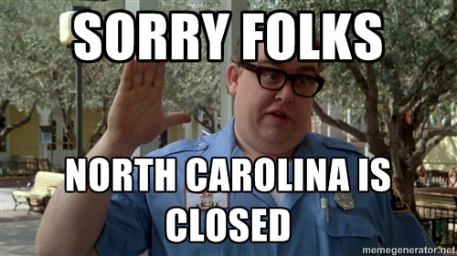 north carolina is closed